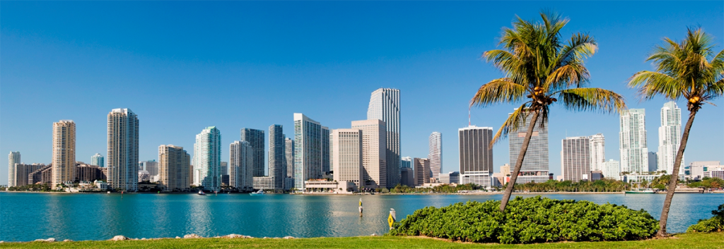 Image of the skyline view of Miami