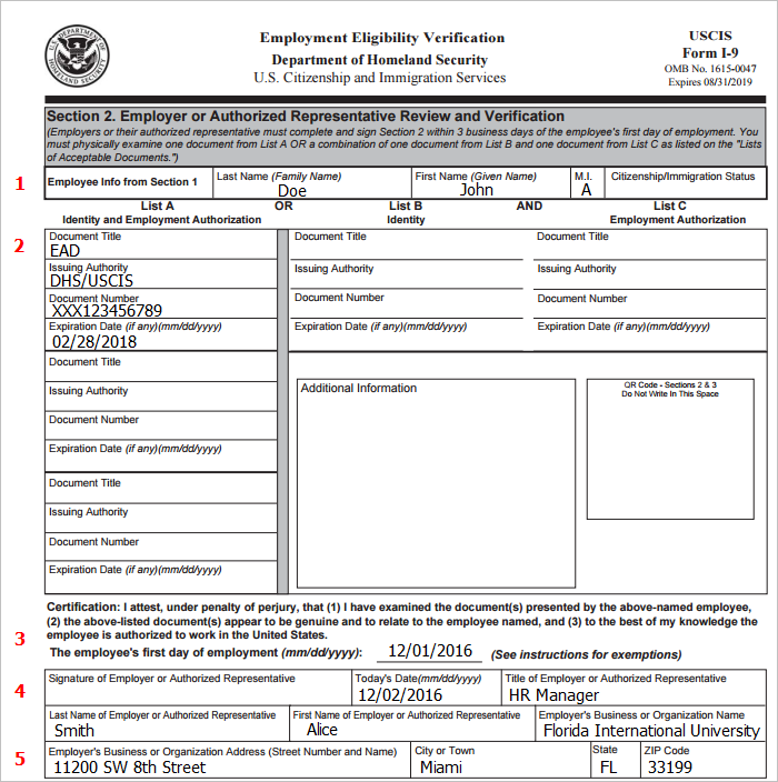 employment document template