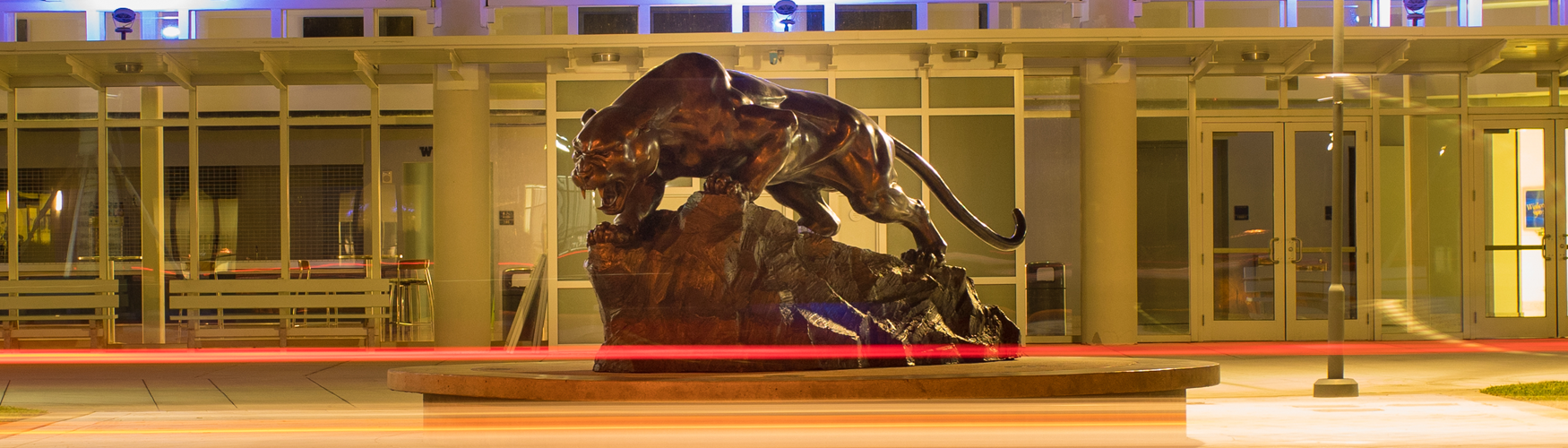 Panther statue arena