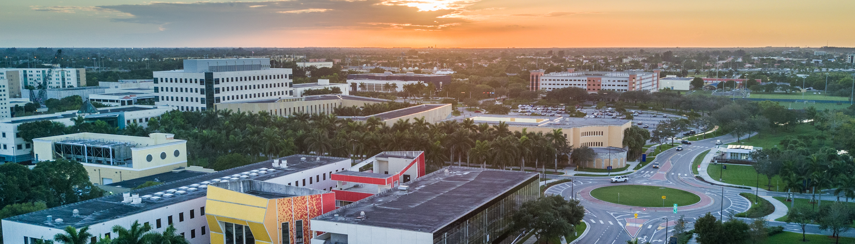 sunrise over FIU campus